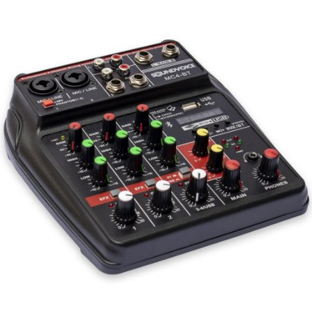 Mesa de Som Compacta Sound Voice MC4BT