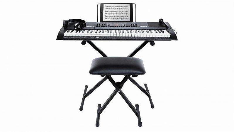 Teclado Alesis Melody 61 MKII (Suporte, Banco, Fone e Microfone)