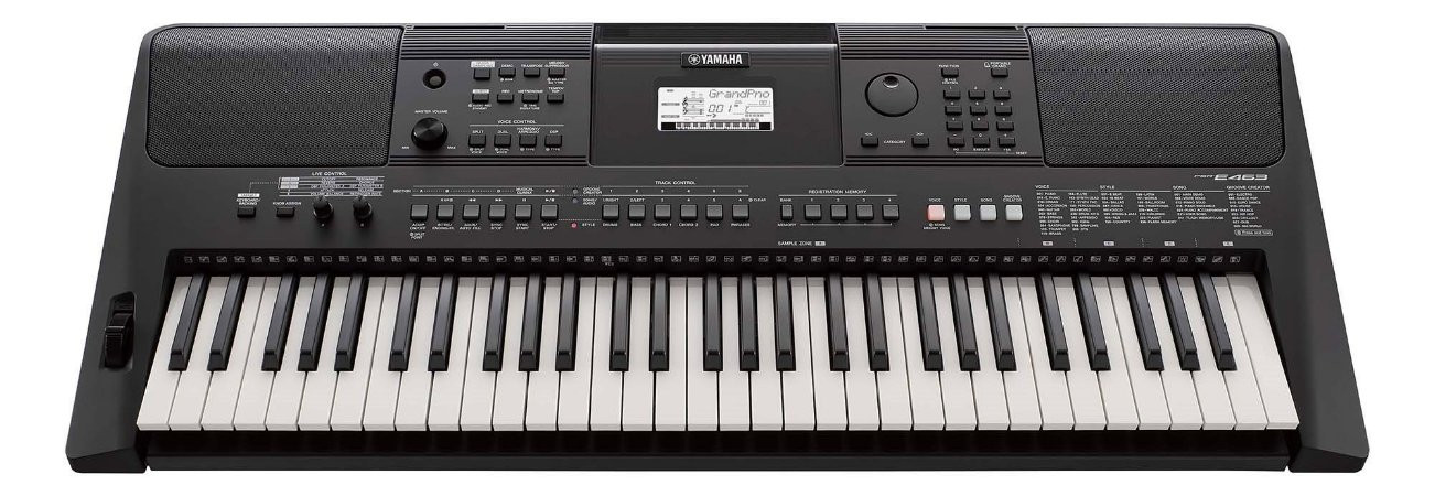 Teclado Yamaha PSR E463 Com Fonte PT
