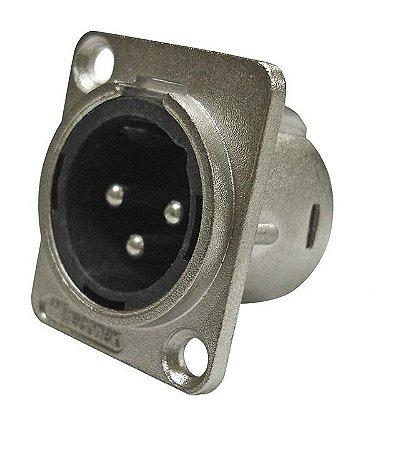 Plug XLR Macho Painel Wireconex WC1033