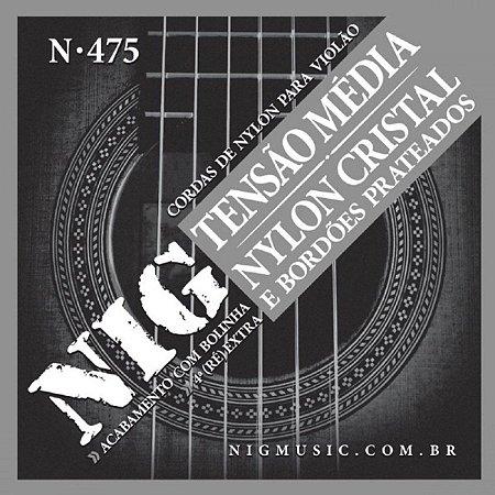 Encordoamento Violao Nylon NIG Tensao Media N 475 Com Bolinha