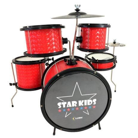 Bateria Infantil Luen Star Kids Vermelho