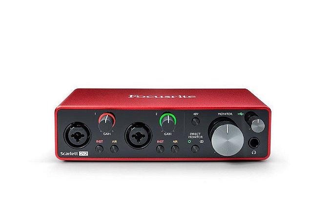Placa de Audio Focusrite Scarlett 2i2 3RD Geração