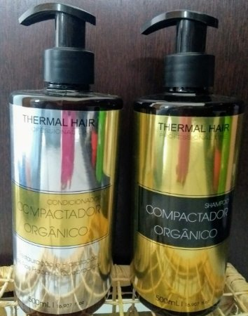 Linha Manutenção  pós Compactador Capilar: Shampoo e Condicionador Compactador Orgânico