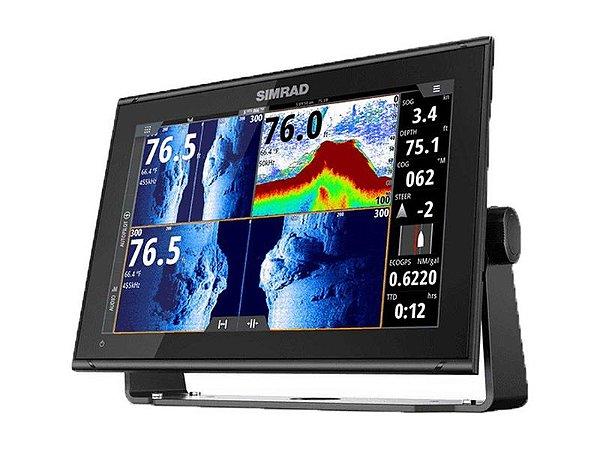 GPS Sonar Simrad GO 12 Active Imaging com Transdutor 3 em 1 CMAP-PRO