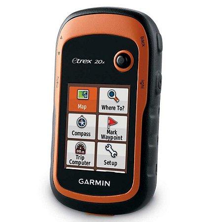 """GPS Portátil Garmin eTrex 20X - Visor 2.2"""", rede GLONASS"""