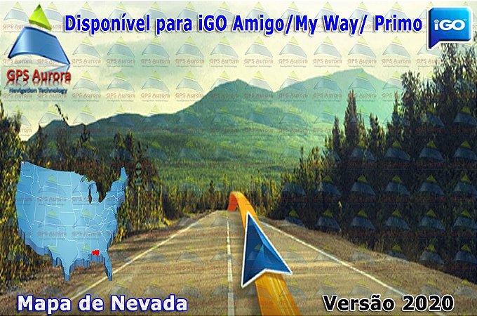 Atualização iGO para GPS ou Cartão - Mapa de Nevada 2020 + POIS