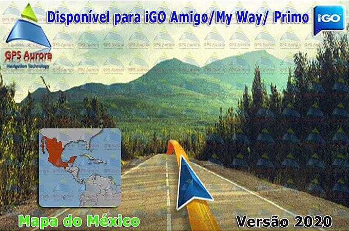 Atualização iGO para GPS ou Cartão - Mapa do Mexico 2020 + POIS