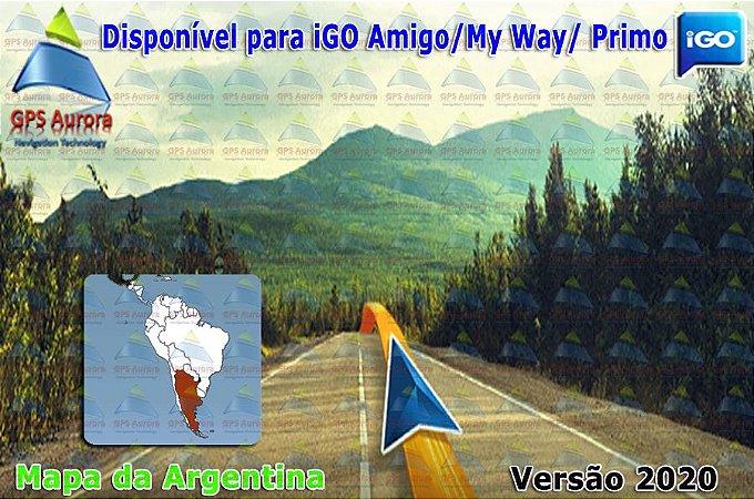 Atualização iGO para GPS ou Cartão - Mapa da Argentina 2020 + POIS