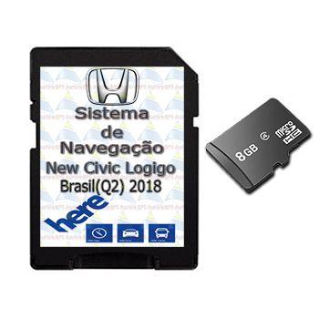 Cartão Gps Logigo 2018-2019-2020 Central Multimidia Honda New Civic