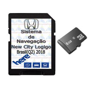 Cartão Gps Logigo 2018 Central Multimidia Honda New City
