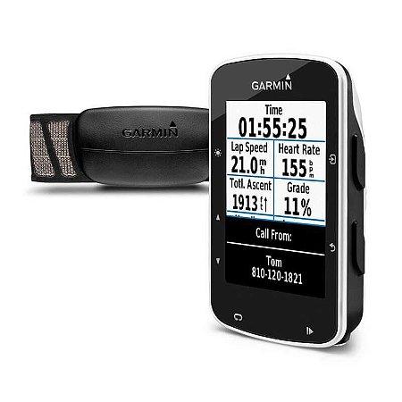 Ciclocomputador Garmin Edge 520  com Kit Ciclismo (Bundle) e GPS Compatível com VIRB