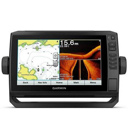 "GPS Echomap Plus Garmin 93SV"" WiFi  e Transdutor 12 Pinos"