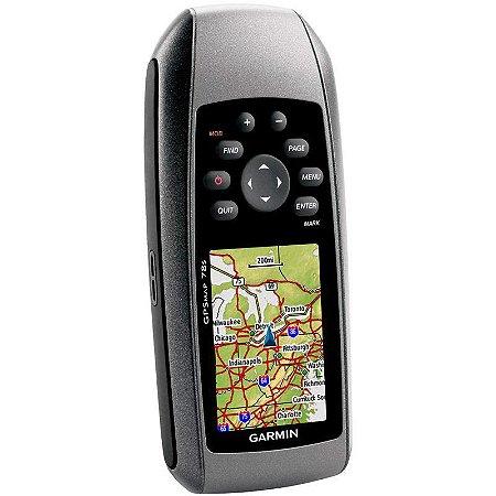 GPS Garmin GPSMap 78S - Preto 1,7GB de Memória USB + BlueChart G2 2020.0 SAM-Costa Leste