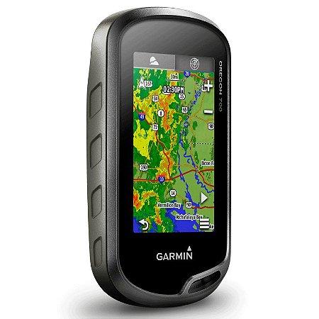 GPS Esportivo Garmin Oregon 700 - 7GB Touchscreen com Wi-Fi com BlueChart Costa Leste + Topo SAM 2020
