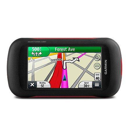 """GPS Garmin Montana 680 + Câmera de 8MP de 4"""" e Gerenciador de Rastreio"""