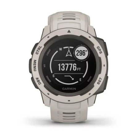 Relógio Garmin Instinct Cinza com GPS e Monitor Cardíaco no Pulso