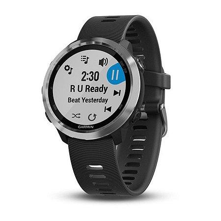 Relógio Garmin Forerunner 645 Music Pulseira Preta com Monitor Cardíaco+GPS e Garmin Pay