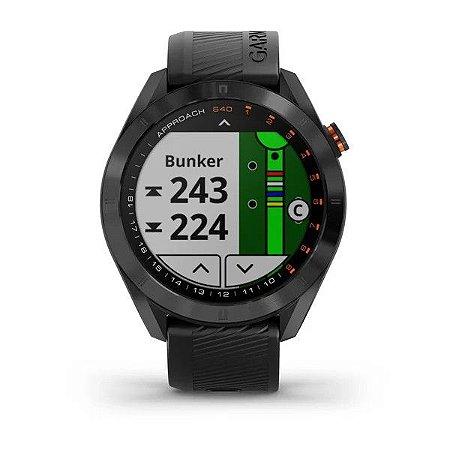 Relógio Garmin Approach S40 Preto e Centenas de Funções para Golf + Monitor de Tacos CT10