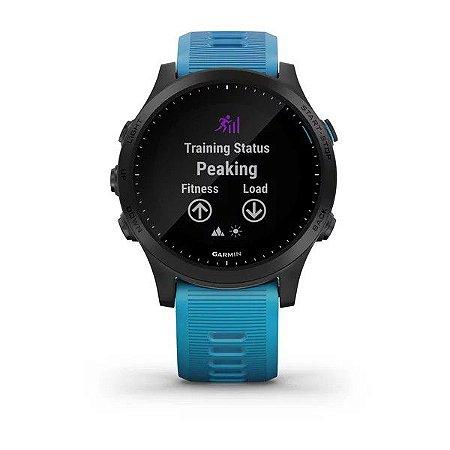 Relógio Garmin Forerunner Forerunner 945 Bundle Azul com Monitor Cardíaco HRM e Mapas e Pay no Pulso