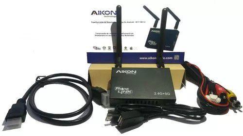 Mirror Link Espelhamento Aikon AK-R100 2.4 + 5.0 Wifi