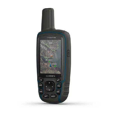 Gps Portátil Garmin Gpsmap 64X Medição de Areas com Caça e Pesca 8GB NMEA 0183 + Blue Chart G2 2020