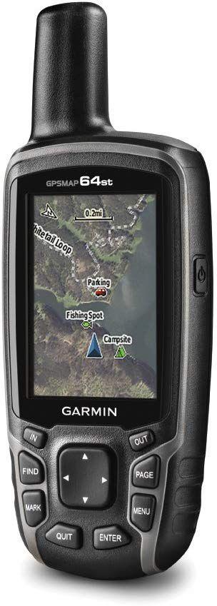 """GPS Garmin Gpsmap 64ST Preto e Laranja tela de 2,6"""" 8GB - Lançamento"""