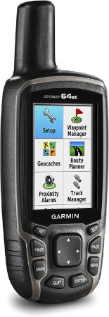 "GPS Garmin Gpsmap 64ST Preto e Laranja tela de 2,6"" 8GB + Mapa Terrestre Brasil + BLueChart HD - Lançamento"