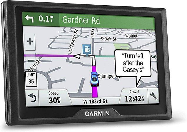 GPS Automotivo Garmin Drive 61 com Mapa do Brasil 2020 e Alerta Total de Radares