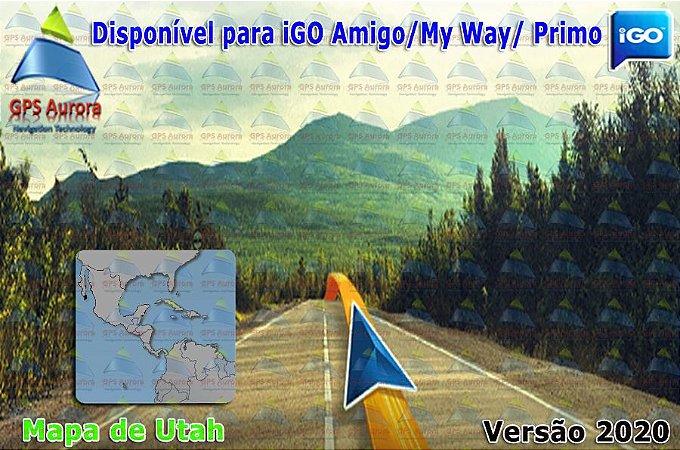 Atualização iGO para GPS ou Cartão - Mapa de Utah 2020 + POIS