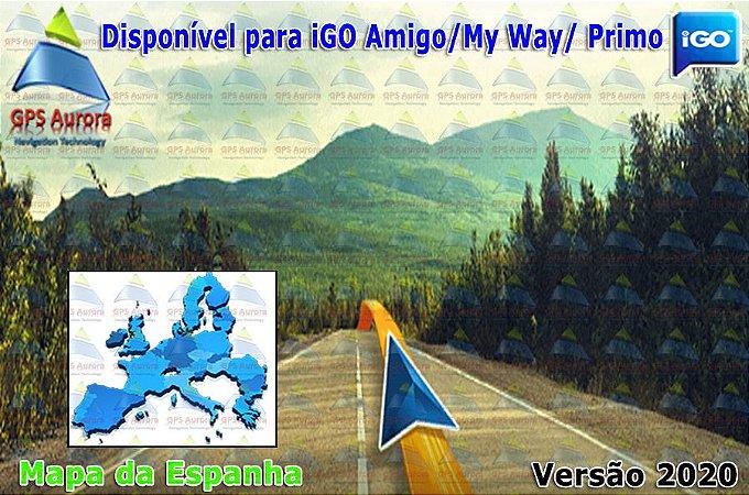 Atualização iGO para GPS ou Cartão - Mapa da Espanha 2020 + POIS