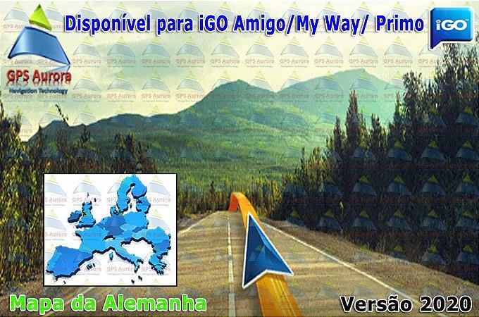 Atualização iGO para GPS ou Cartão - Mapa da Alemanha 2020 + POIS