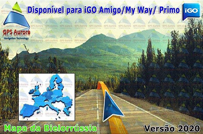 Atualização iGO para GPS ou Cartão - Mapa da Bielorrússia 2020 + POIS