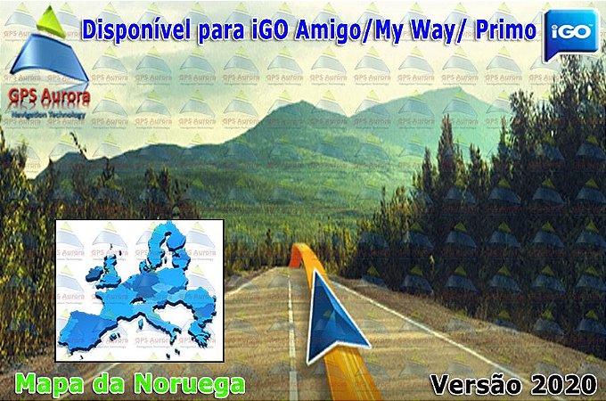 Atualização iGO para GPS ou Cartão - Mapa da Noruega 2020 + POIS