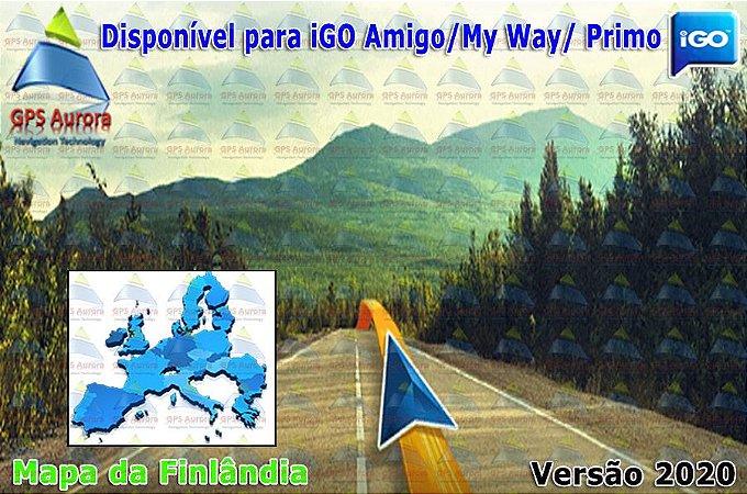 Atualização iGO para GPS ou Cartão - Mapa da Finlândia 2020 + POIS