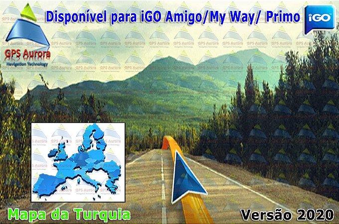 Atualização iGO para GPS ou Cartão - Mapa da Turquia 2020 + POIS