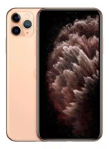 "Apple iPhone 11 Pro Max Dourado A2218 64GB IOS13 4GB + 3 Cameras 12MP - Tela 6.5"" Retina"