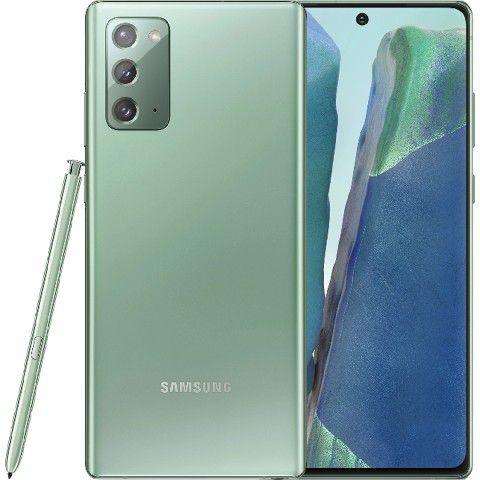 "Smartphone Samsung Galaxy Note 20 Mystic Green 256GB Dual Chip Android 10.0 Tela 6.7"" 5G Câmera Tripla 12+64+12MP"