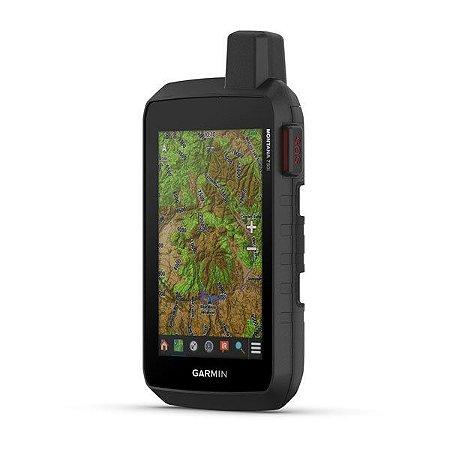 """GPS Garmin Montana 750i + Câmera de 8MP de 5"""" e Gerenciador de Rastreio InReach SOS 16GB + Blue Chart G3 HD 2021.0"""