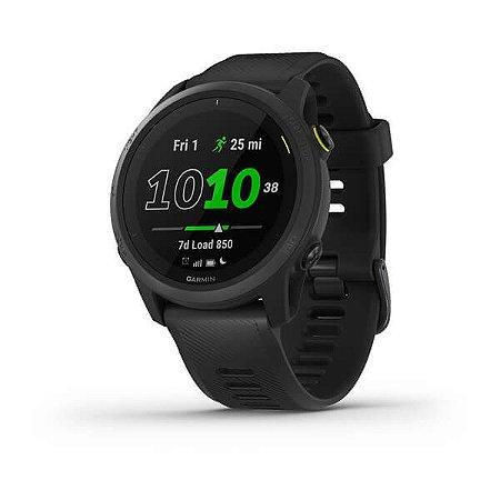 Relógio Garmin Forerunner 745 Black com GPS e Monitor Cardíaco