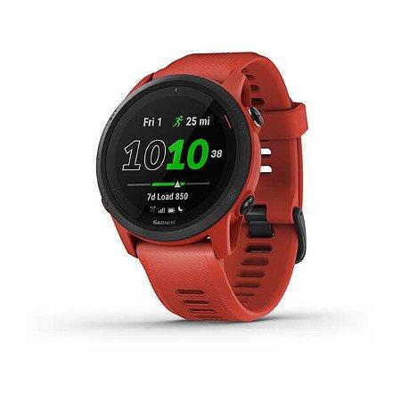 Relógio Garmin Forerunner 745 Magma Red com GPS e Monitor Cardíaco
