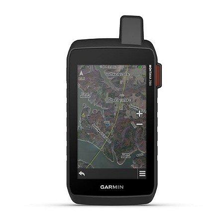"""GPS Garmin Montana 750i + Câmera de 8MP de 5"""" e Gerenciador de Rastreio InReach SOS 16GB com Mapa Terrestre 2021"""
