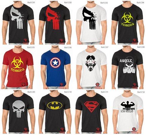 9eed7133c1278 Pacote 5 Camisetas em algodão fio 30.1 Alta qualidade - Frete grátis