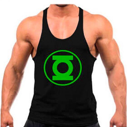 Regata cavada Musculação Fitness Lanterna verde