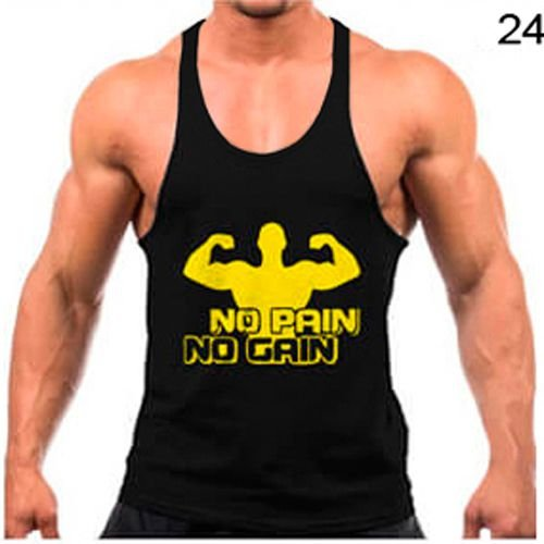 Regata cavada Musculação Fitness No pain no gain