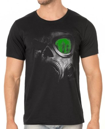 Camiseta Caveira chernobyl