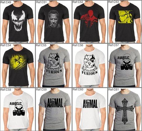 Pacote com 5 Camisetas ou Regatas sortidas - Escolha os modelos !