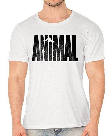 Camiseta branca Animal