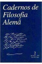 Livro Cadernos de Filosofia Alemã-2 Autor Vários Autores (1989) [usado]