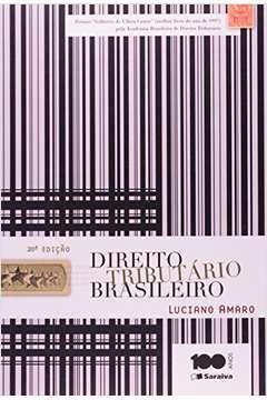 Livro Direito Tributário Brasileiro Autor Luciano Amaro (2014) [usado]